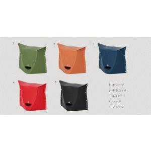 SOLCION 折りたたみ椅子 PATATTO 250 (パタット 250) オリーブ/テラコッタ/ネイビー/レッド/ブラック 高さ25cm PT2501