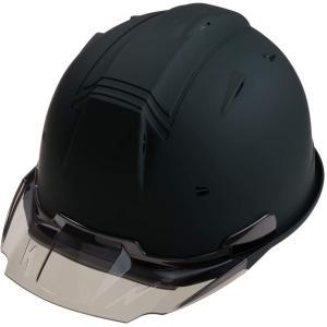 進和化学工業 セーフティーヘルメット SS-19V型T-P式RA 特注カラー:マットブラック スモー...