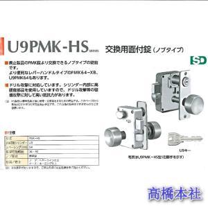 美和ロック U9PMK-HS 外開き仕様 ST色 交換用面付錠 RorL|takahashihonsha