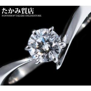 ミキモト Pt950 ダイヤ0.41ct(F-VS1-ラウンブリリアントカット-EXCELLENT-WEAKBLUE) 指輪(リング) 11.5号|takami710