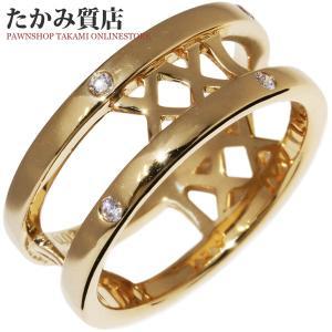ミキモト K18YG ダイヤ0.03ct ペルリータ リング「XXI」 指輪(リング) 7号|takami710