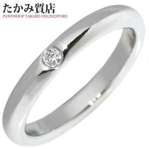 ティファニー Pt950 ダイヤ1P(約0.02ct) エルサ・ペレッティ スタッキングバンドリング 指輪(リング) 6.5号|takami710