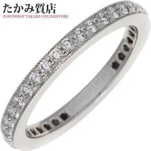 ティファニー Pt950 ダイヤ(0.38ct) レガシー フルサークルバンドリング 指輪(リング) 9号|takami710