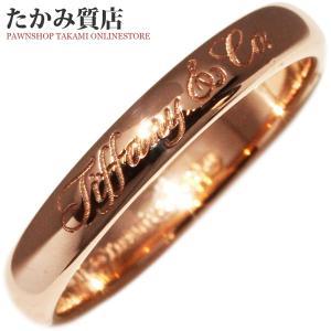 ティファニー K18PG ノーツバンドリング 指輪(リング) 9号|takami710