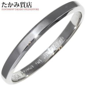 ヴァンクリーフ&アーペル Pt950 トゥージュールマリッジリング(幅2.5ミリ) 指輪(リング) #58(17.5号) takami710