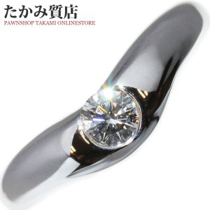ティファニー Pt950 ダイヤ1P(0.18ct) エルサ・ペレッティ カーブドバンドリング 指輪(リング) 6.5号|takami710