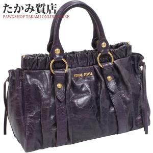 ミュウミュウ 2WAYハンドバッグ(RT0383) カーフ(パープル)|takami710