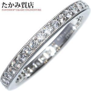 ティファニー Pt950 ダイヤ0.38ct レガシー フルサークル バンドリング(幅2ミリ) 指輪(リング) フルエタニティ 9号|takami710