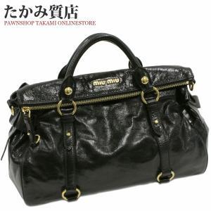 ミュウミュウ 2WAYハンドバッグ (RT0365) カーフ(黒)|takami710