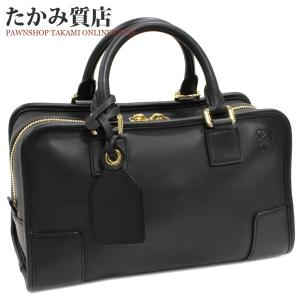 ロエベ 2WAYハンドバッグ アマソナ28(352.30.N03) カーフ (黒)|takami710