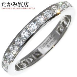 ティファニー Pt950 ダイヤ約1.00ct ダイヤモンド ウェディングバンドリング (フルサークル チャネルセッティング)(幅3ミリ) 指輪(リング) 11号|takami710