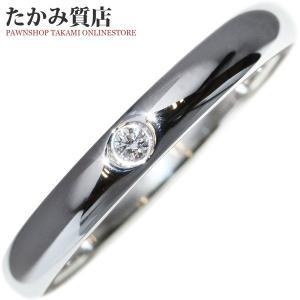 ティファニー Pt950 ダイヤ1P(0.02ct) エルサ・ペレッティ スタッキングバンドリング 指輪(リング) 5.5号|takami710