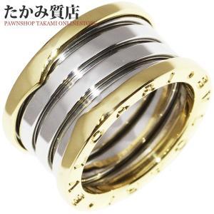 ブルガリ K18YG/K18WG B.zero1(ビーゼロワン) リング(M) 指輪(リング) #51(10.5号) 限定品 takami710
