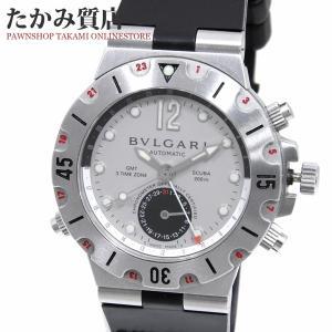 ブルガリ 銀座ブティック限定ディアゴノスクーバ GMT(SD38SGMT) メンズ 限定品|takami710