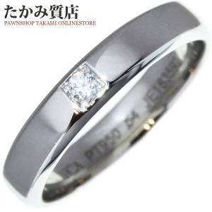 ヴァンクリーフ&アーペル Pt950 ダイヤ0.05ct トゥージュールエトワール マリッジリング 指輪(リング)(VCARD15100) #54(13.5号) takami710