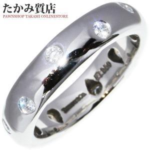 ティファニー Pt950 ダイヤ10P(0.22ct) ドッツリング 指輪(リング) 8号|takami710