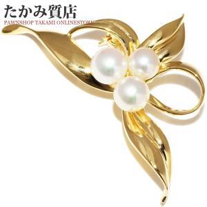 ミキモト K18YG パール(真珠) ブローチ|takami710