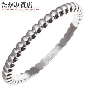 ヴァンクリーフ&アーペル K18WG ペルレリング スモールモデル 指輪(リング) 14.5号 takami710
