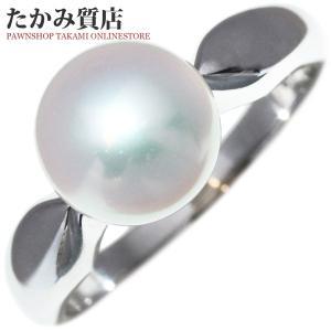 ミキモト K18WG パール(真珠)8.3ミリ 指輪(リング) 10.5号|takami710