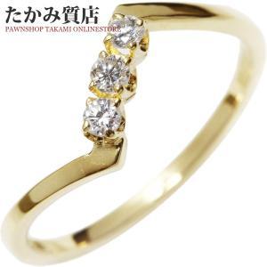 ミキモト K18YG ダイヤ 指輪(リング) 8号|takami710