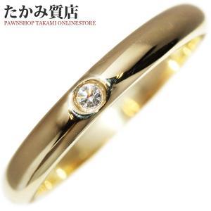 ティファニー K18YG ダイヤ1P(0.02ct) エルサ・ペレッティスタッキング バンドリング 指輪(リング) 11号|takami710