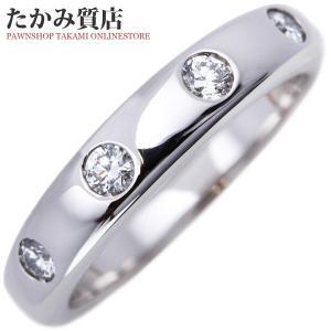ヴァンクリーフ&アーペル Pt950 ダイヤモンド4P ニューヨーク マリッジリング 指輪(リング) #47(8号) takami710