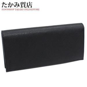 プラダ ファスナー長財布 小銭入れあり(2MV836) 型押しカーフ(黒)|takami710