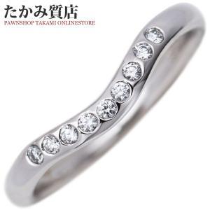 ティファニー Pt950 ダイヤ9P(0.06ct) エルサ・ペレッティ カーブドバンドリング 指輪(リング) 5.5号|takami710