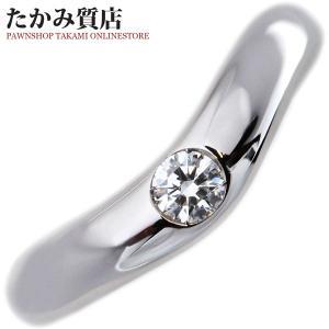 ブルガリ Pt950 ダイヤ1P コロナ ウェディングリング 指輪(リング) 9号 takami710