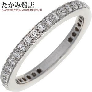 ティファニー Pt950 ダイヤ38P(0.38ct) フルサークルレガシーバンドリング(幅2ミリ) 指輪(リング) 9号|takami710