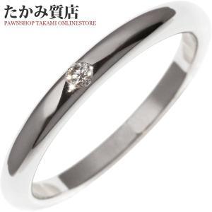 ブルガリ Pt950 ダイヤ1P(0.02ct) フェディ ウェディングリング 指輪(リング)(AN856591) 8号 takami710