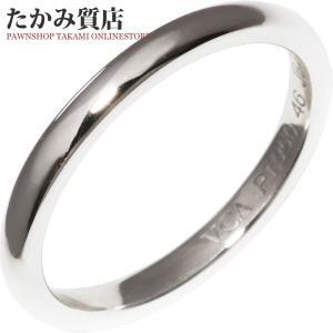 ヴァンクリーフ&アーペル Pt950 アンフィニマリッジリング 指輪(リング)(VCARA87300) #46(6号) takami710