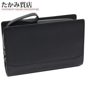 カルティエ セカンドバッグ カボション(L1000704) レザー(黒)|takami710
