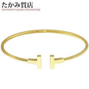 ティファニー K18YG Tワイヤーブレスレット(L)|takami710