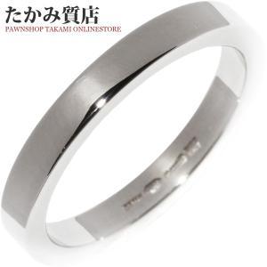 ブルガリ Pt950 マリーミーウェディングリング(幅3ミリ) 指輪(リング) メンズリング(AN852594) 16号 takami710