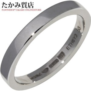 d3f77c41fab6 ブルガリ 指輪 リング メンズリング Pt950 マリーミーウェディングリング 幅3ミリ AN852594 #58 17.5号