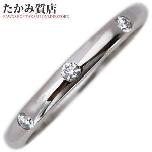ブルガリ Pt950 ダイヤ3P フェディウェディングリング 指輪(リング)(AN857433) 8号 takami710