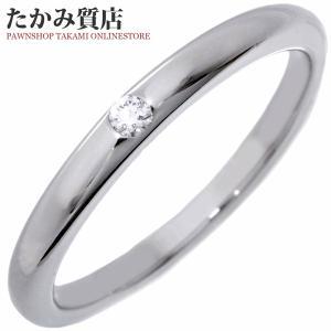 ブルガリ Pt950 ダイヤ1P(0.02ct) フェディウェディングリング 指輪(リング)(AN856591) 6号 takami710