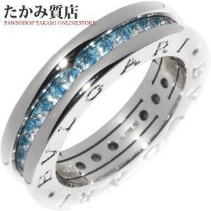 ブルガリ K18WG ブルートパーズ B-zero1(ビーゼロワン)リング(XS) 指輪(リング)(AN852562) #48(8号) takami710