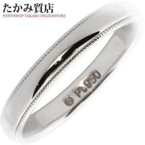 ミキモト Pt950 ミルグレインマリッジリング 幅2.8ミリ 指輪(リング) 11号|takami710