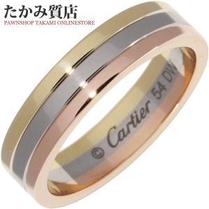 カルティエ K18YG/K18WG/K18PG トリニティウェディングリング(幅4.8ミリ) 指輪(リング) (B40521) #54(14号)