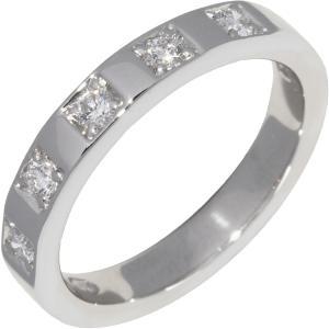 ブルガリ Pt950 ダイヤ5P 0.15ct マリーミー ウェディングリング 幅3ミリ AN852593 指輪(リング)|takami710