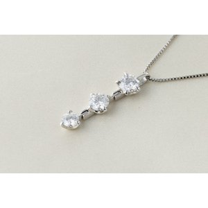 ネックレス  3連天然ダイヤモンド PGL,NO-0103780|takamoli