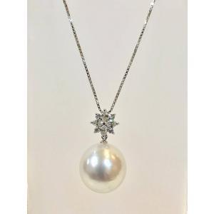ネックレス 南洋本真珠 天然ダイヤモンド B90673|takamoli