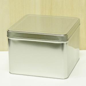 サイズ:横幅W235×奥行D235×高さH175 mm 材質:スチール缶(無地)  昔から半缶と呼ば...