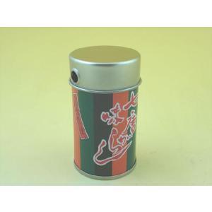 七味唐辛子の露天商やお蕎麦屋さん御用達の七味缶です。 お洒落な歌舞伎柄が粋です。 印刷缶ですので、印...