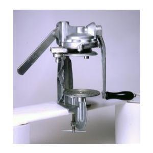 食缶/缶詰缶の2・4号缶サイズの蓋を、手動で巻き締めできる機械となります。