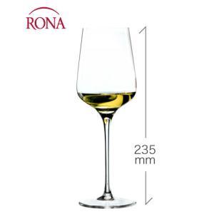 スタイリッシュ 白ワイン350ml(RONA)1脚(ワイングラス・RONAシリーズ)|takamura