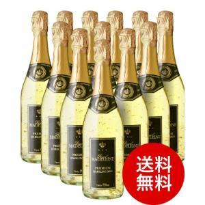 【送料無料】ロイヤル・マデリン・ゴールドエディションNV12本セット(金箔入り)(泡・白やや辛口)|takamura