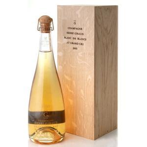 正規 木箱入りブラン ド ブラン[2005]アンリ ジロー(泡 白) (ワイン(=750ml)4本と同梱可)|takamura